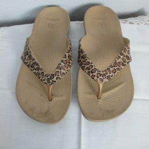 Shoes - Crocs Flip Flops Size 8
